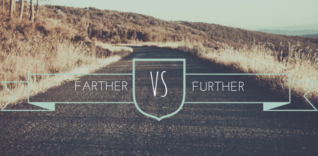 Farther versus further